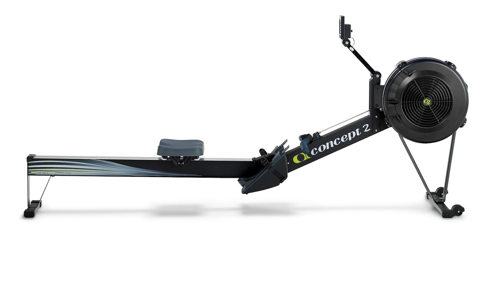 concept2 model d indoor rowing machine with pm3 light gray